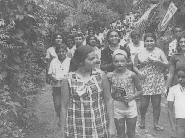 1ª Campanha da Fraternidade aconteceu na comunidade Timbo, no RN (Foto: Arquivo Arquidiocese de Natal)