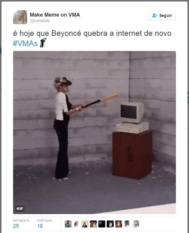 Internautas comentam apresentação de Beyoncé (Foto: Twitter / Reprodução)