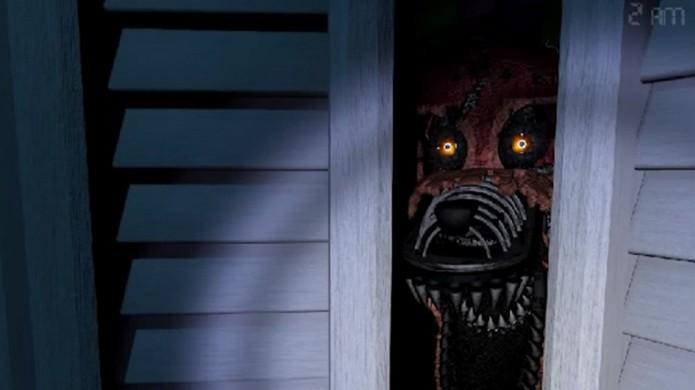 Five Nights at Freddys 4: The Final Chapter leva o terror para dentro de casa. Cheque os armários e embaixo da cama (Foto: Reprodução/YouTube)