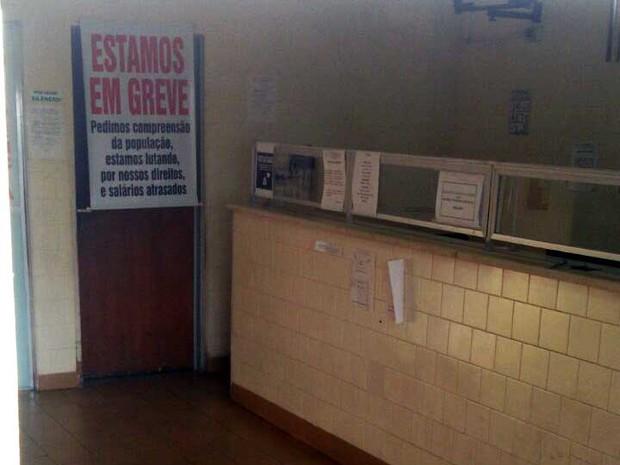 Durante a paralisação, somente os atendimentos de emergência foram realizados (Foto: Leonardo Mázzaro da Silva/Cedida)