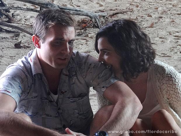 Mila provoca Ciro (Foto: Flor do Caribe / TV Globo)
