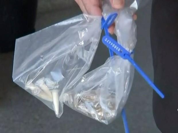 Droga foi apreendida em Bauru (Foto: Reprodução / TV TEM)