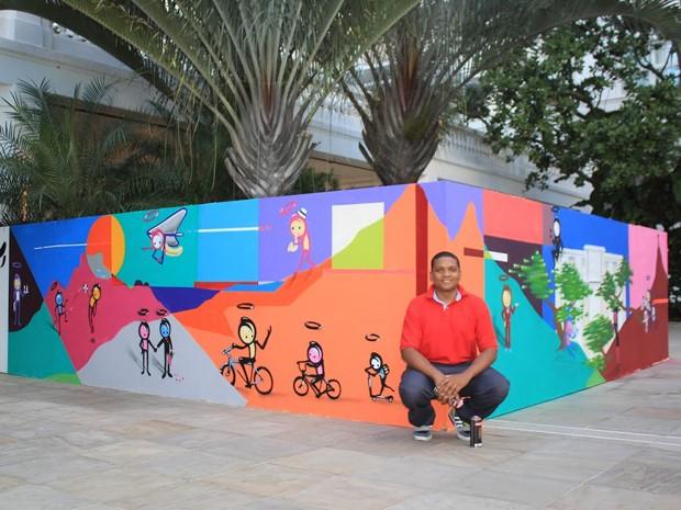 Wark da Rocinha, de 29 anos, é um grafiteiro e ultrapassou as fronteiras das paredes. (Foto: Wark Rocinha/Divulgação)