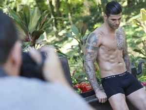 Making Of do Paparazzo, de Rodrigo Lima (Foto: Alexandre Campbell)