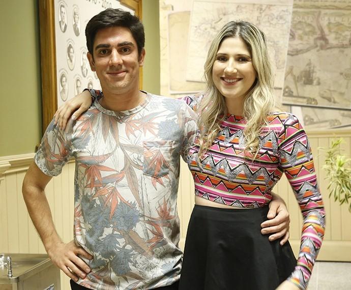 Adnet e Dani Calabresa (Foto: Raphael Dias/Gshow)