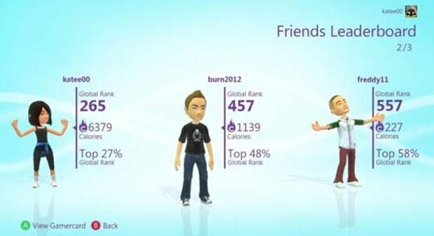 Kinect PlayFit traz contagem de queima de calorias para o usuário do Xbox 360 (Foto: Divulgação)