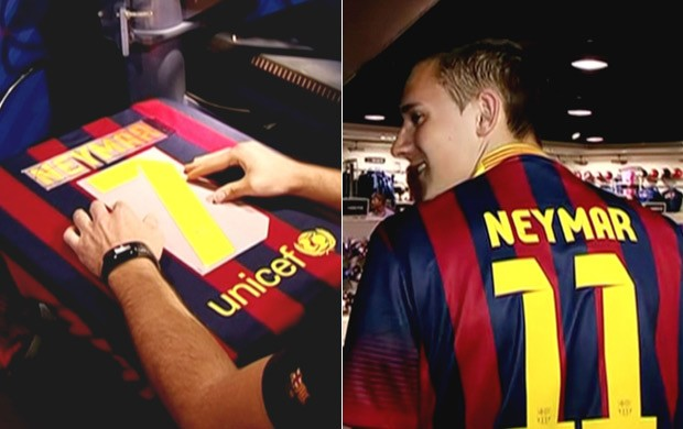 camisa Neymar, Barcelona (Foto: Reprodução SporTV)