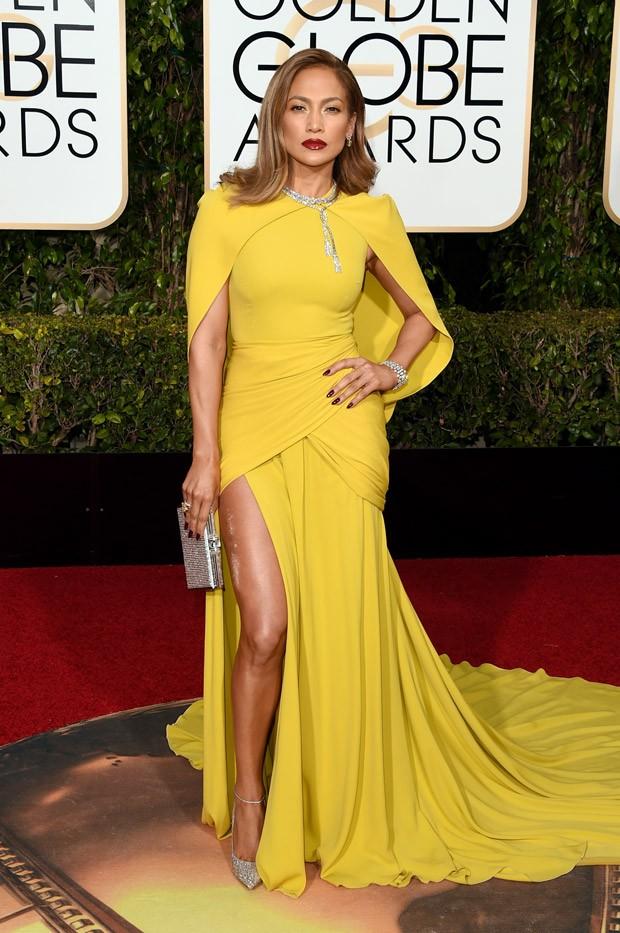 Jennifer Lopez no Globo de Ouro (Foto: Getty Images)