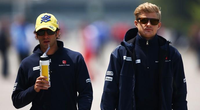 Felipe Nasr e Marcus Ericsson (Foto: Getty Images)
