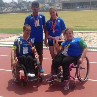 Equipe santista de cadeirantes, prêmio CPB (Foto: Divulgação / Santos Fast Wheels)