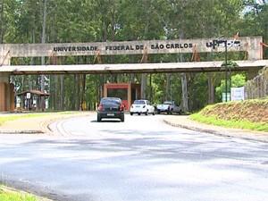 Entrada do campus da UFSCar em São Carlos (Foto: Reprodução/EPTV)