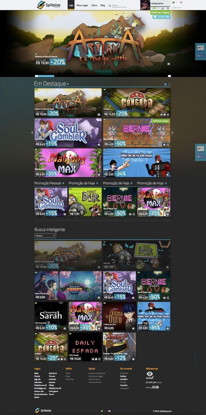 Os games da Splitplay divulgados com exclusividade ao TechTudo (Foto: Divulgação)