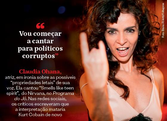 Frases que resumem a semana | Claudia Ohana  (Foto: Bruno Poletti/Folhapress)