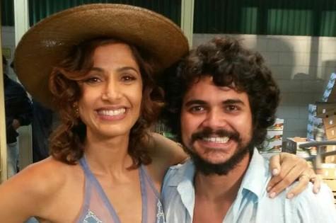 Camila Pitanga e Bruce Brandão (Foto: Arquivo pessoal)