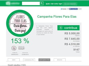 Campanha arreacada doações para vítimas de estupro em Castelo do Piauí (Foto: Reprodução)