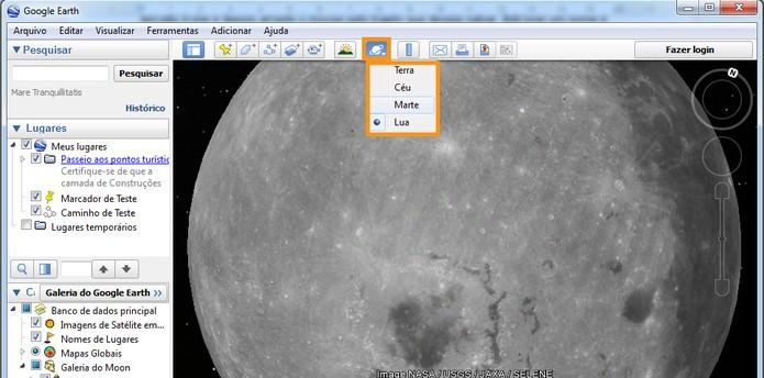 Visualizar outro planeta, satélite ou céu (Foto: Reprodução/Barbara Mannara)