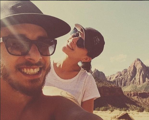 Junior Lima e esposa em viagem romântica (Foto: Arquivo Pessoal)