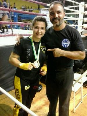 Mayra de Oliveira Kickboxing Divinópolis Competições Copa  (Foto: Mayra de Oliveira/Arquivo Pessoal)
