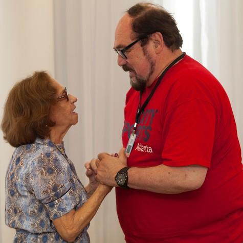 Laura Cardoso e Rubens Ewald Filho (Foto: Daniela Nader)