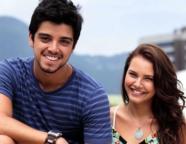 Rodrigo Simas e Louise D'Tuani se conhecem há 10 anos (Foto: Malhação / TV Globo)