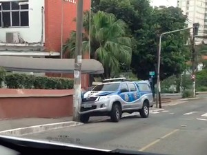 Viatura bate em poste no bairro da Federação, em Salvador (Foto: Arquivo Pessoal)