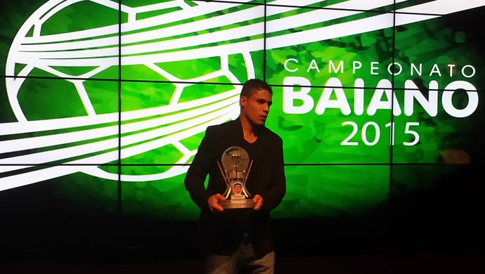 Léo goleiro do Bahia de Feira em festa do Baianão (Foto: Thiago Pereira)