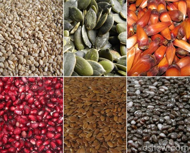 Sementes são fontes ricas de fiibras e vitaminas, mas se usadas em excesso, podem prejudicar a saúde (Foto: Mais Você/ TV Globo)