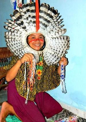 mestre artesã (Foto: Divulgação Biblioteca da Floresta)