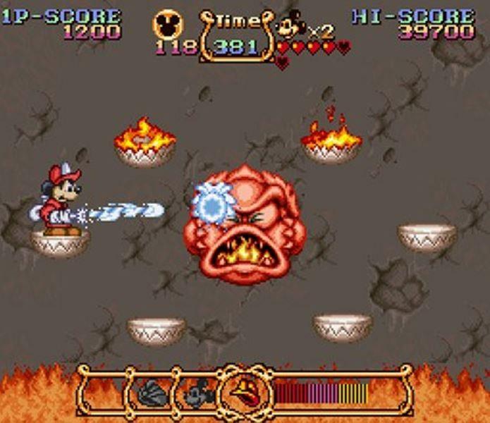 No game, Mickey podia trocar de roupa ganhando novas habilidades e armas (Foto: Reprodução / Games Radar)