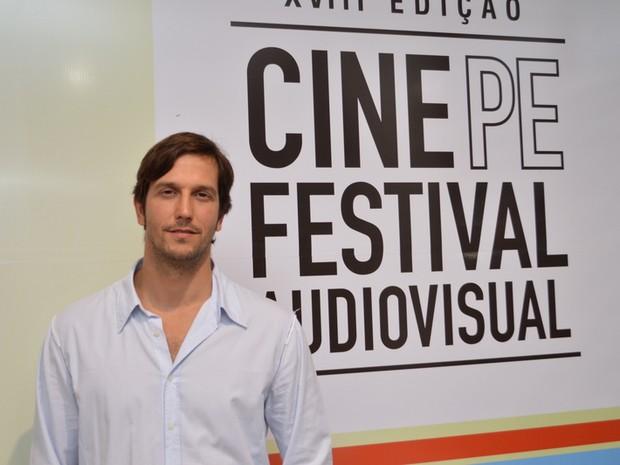 Vladimir Brichta em festival de cinema em Olinda (Foto: Felipe Souto Maior/ Ag. News)