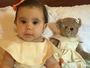 Deborah Secco combina roupa de Maria Flor com a de ursa de pelúcia