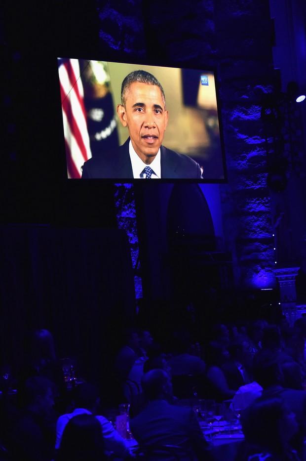 Barack Obama durante discurso no Trailblazer Honors, nos Estados Unidos (Foto: AFP)