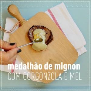 MEDALHÃO DE MIGNON COM GORGONZOLA E MEL (Foto:  )