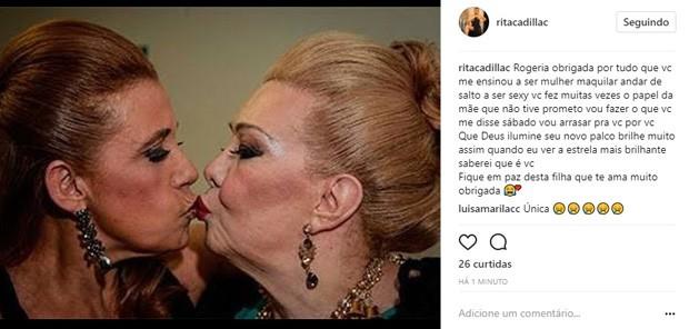 Rita Cadillac lamenta morte de Rogéria (Foto: Reprodução/Instagram)