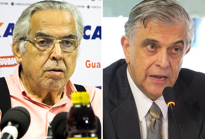 Eurico Miranda e Mário Celso Petraglia, de Vasco e Atlético-PR (Foto: Globoesporte.com)