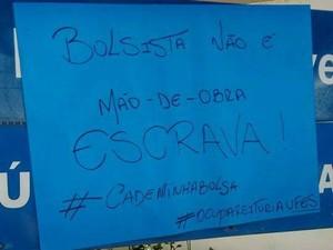 Estudantes ocupam a reitoria desde sexta-feira (4) (Foto: Estudantes em Luta por Direito à Permanência/ Facebook)