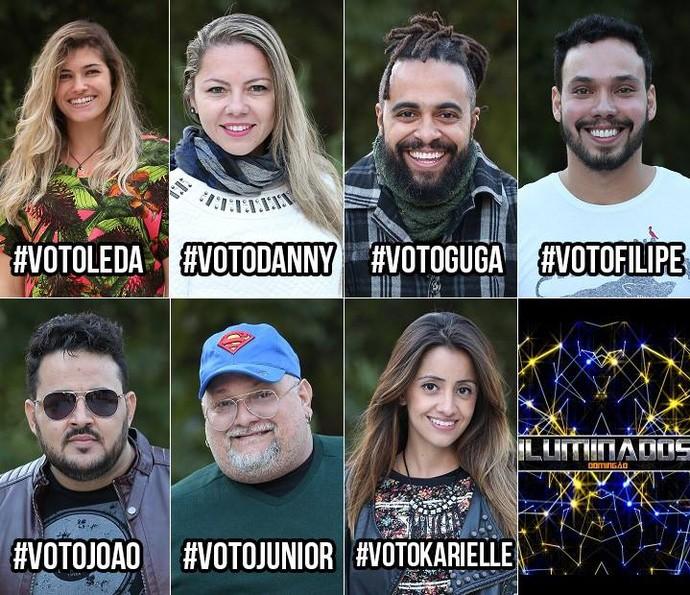 Vote nas hashtags dos participantes pelo Twitter (Foto: Carol Caminha/Gshow)