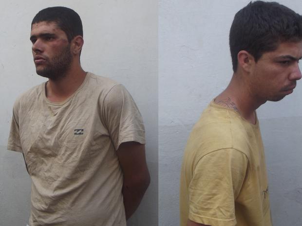 Walisson Lopes e Breno Henrique foram presos envolvidos com a libertação de dois presos da penitenciária de Francisco Sá (Foto: Henrique Corrêa/G1)
