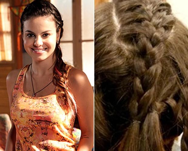 Sthefany diz que adoraria ficar ruiva para personagem vilã (Foto: Vídeo Show/TV Globo)