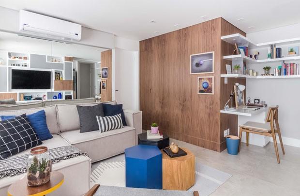Apartamento de 57 m² para um solteiro tem ideias versáteis (Foto: ATA Photograph/Divulgação)