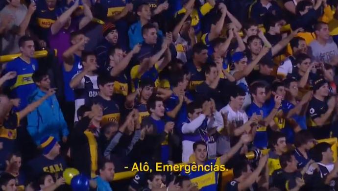 Torcedor Boca liga para emergência; frame do áudio (Foto: Reprodução SporTV)