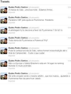 Eudes Pedro critica arbitragem brasileira (Foto: Reprodução / Twitter)