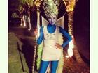 Ex-BBB Ariadna usa fantasia bizarra: 'Eu de Rainha Smurfet'