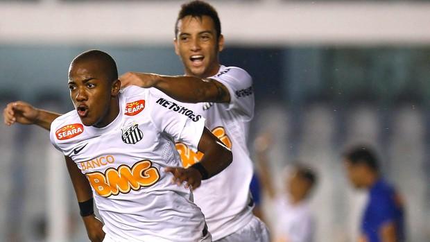 Victor Andrade e Felipe Anderson, Santos x Cruzeiro (Foto: Ricardo Saibun / Agência Estado)