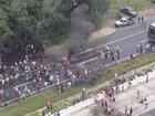 Protesto interdita e congestiona a BR-101 entre Pernambuco e Paraíba
