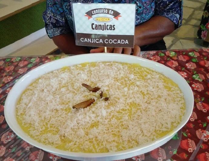 Canjica de cocada, preparada pela Valderez de Matos (Foto: Fernanda Pinheiro)