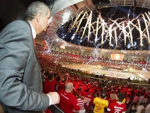 Giovanni Luigi Beira RIo inauguração inter (Foto: Divulgação/Inter)