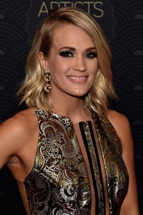 Cantora Carrie Underwood em prêmio de música em Nashville, no Tennessee, nos Estados Unidos (Foto: John Shearer/ Getty Images/ AFP)