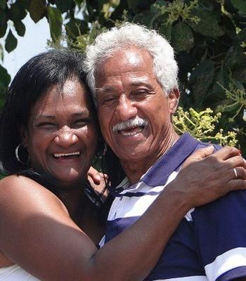Touro Moreno e a esposa, Maria Olinda Falcão Gomes (Foto: Divulgação/Arquivo Pessoal)