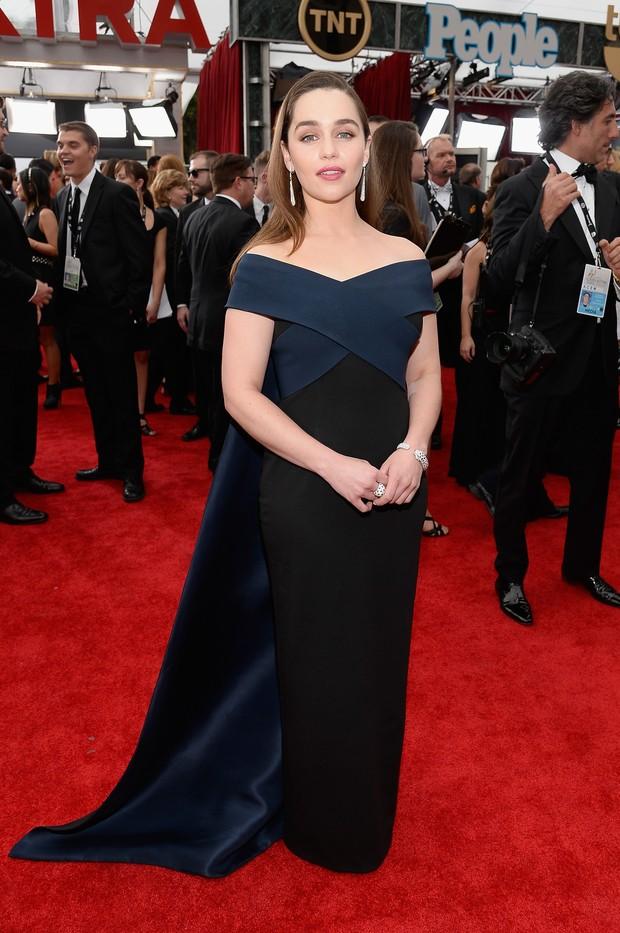 Emilia Clarke no SAG Awards (Foto: AFP)